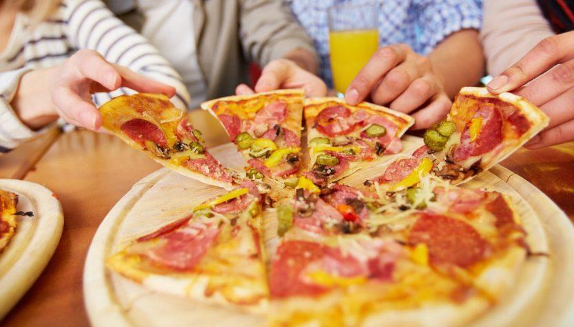 употребление пиццы
